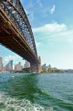 Sydney Harbour Bridge. Harbour bridge Sydney from circular quay ferry Royalty Free Stock Image