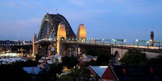 Sydney Harbour Bridge. At dusk Stock Image