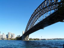 Sydney Harbour Bridge. By evening of the clear sky stock photography
