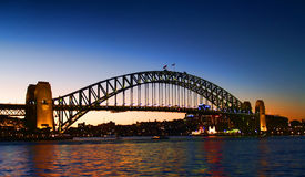 Sydney Harbour Bridge. By afternoon royalty free stock image