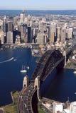 Sydney Harbour bridge. An aerial photo of Sydney Harbour, Australia Royalty Free Stock Photo