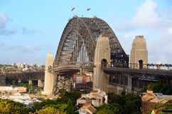 Sydney Harbour Bridge. Viewed from Observatory Hill Royalty Free Stock Photos