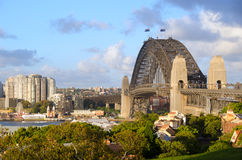 Sydney Harbour Bridge. Viewed from Observatory Hill Royalty Free Stock Images