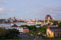 Sydney Harbour Bridge. Viewed from Observatory Hill Stock Image