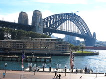 Sydney Harbour Bridge at The Rocks Stock Images