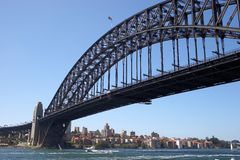 Sydney Harbour Bridge. Bridge over Sydney Harbour looking North Royalty Free Stock Image