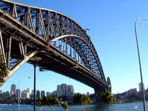 Sydney Harbour Bridge. A general view of Sydney Harbour Bridge. pictured in Sydney in Australia. The Sydney Harbour Bridge is one of Australia's most well known stock photos