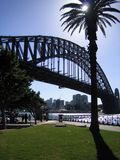 Sydney Harbour Bridge. A view of Sydney Harbour Bridge as seen from the historic Rocks Royalty Free Stock Images