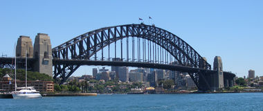 Sydney Harbour Bridge. Bridge From Circular Key royalty free stock images
