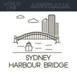 Sydney Harbour Bridge stock de ilustración