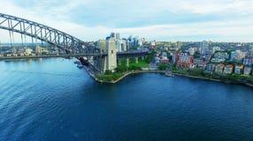 Sydney Harbour Bridge aerial view Royalty Free Stock Photos