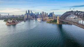 Sydney Harbour Bridge aerial view Royalty Free Stock Photography