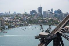 Sydney Harbour Bridge: Armatura e vista di lungomare Immagine Stock Libera da Diritti