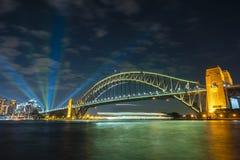 Free Sydney Harbour Bridge At Night Royalty Free Stock Images - 108415199