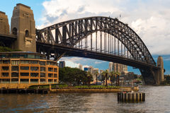 Sydney Harbour Bridge, Austrália imagem de stock