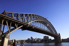 Sydney Harbour Bridge in Australia. Grand arch of Sydney Harbour Bridge, Australia Stock Image