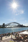 Sydney harbour bridge in australia Royalty Free Stock Photos