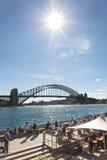Sydney harbour bridge in australia Royalty Free Stock Photos