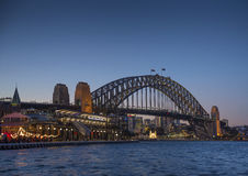 Sydney harbour bridge in australia Royalty Free Stock Images