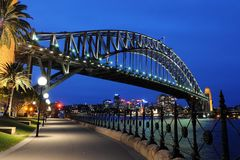Sydney Harbour Bridge. In Sydney, Australia at night Royalty Free Stock Images