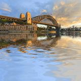 Sydney Harbour Bridge Australia Spectacular Early Morning Light royalty free stock image