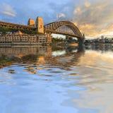 Sydney Harbour Bridge Australia Spectacular ottaljus royaltyfri bild