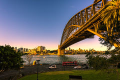 Sydney Harbour Bridge. Sydney,Australia at sunset Stock Photography
