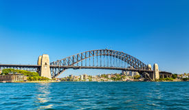 Sydney Harbour Bridge, bouwde 1932 in australië Stock Foto