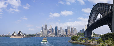 Sydney Harbour Bridge and city skyline Royalty Free Stock Image