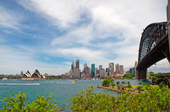 Sydney Harbour Bridge with City Skyline, Sydney Australia Royalty Free Stock Photos