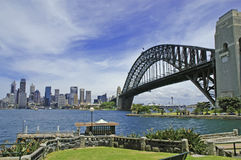 Sydney Harbour Bridge with City Skyline, Sydney Australia Stock Image