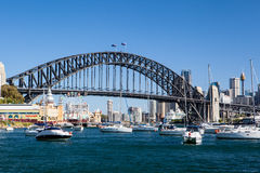 Sydney Harbour Bridge and City Stock Images