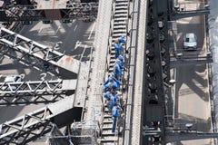 Sydney Harbour Bridge Climb Group Fotografia Stock