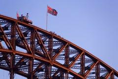Sydney Harbour Bridge climbers Stock Photo