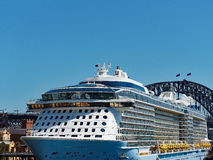 Sydney Harbour Bridge and Cruise Ship Royalty Free Stock Image