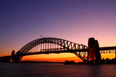 Sydney Harbour Bridge at dawn. Royalty Free Stock Photos