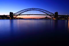 Sydney Harbour Bridge at dawn. Sydney Harbour Bridge at sunrise Stock Images