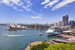 Sydney Harbour From Bridge Day Royalty Free Stock Images