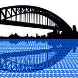 Sydney harbour bridge dollars vector illustration