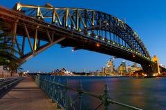Sydney Harbour Bridge At Dusk Royalty Free Stock Images