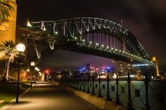 Sydney Harbour Bridge At Dusk Royalty Free Stock Photography