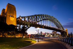 Sydney Harbour Bridge At Dusk Stock Photos