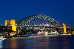 Sydney Harbour Bridge at Dusk Royalty Free Stock Images