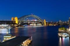 Sydney Harbour Bridge at Dusk Royalty Free Stock Photo