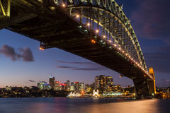Sydney Harbour Bridge At Dusk Stock Photography