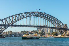 Sydney Harbour Bridge and ferrys, Australia Royalty Free Stock Images