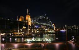 Sydney Harbour Bridge från vaggar, Sydney royaltyfri bild