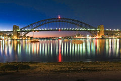 Sydney Harbour bridge in full colour Royalty Free Stock Images