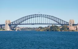 Sydney Harbour Bridge - harbor. Sydney Harbour ( Harbor) Bridge on a clear blue Day Stock Image