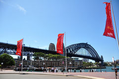 Sydney Harbour Bridge i Sydney, New South Wales, Australien Arkivbilder